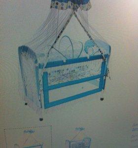 Кроватка-трансформер с люлькой и балдахином