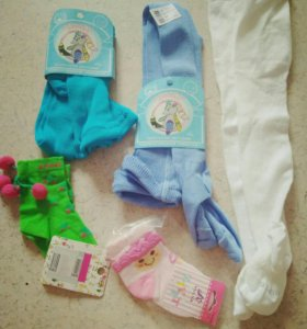 Колготки, носки, новые, 3г