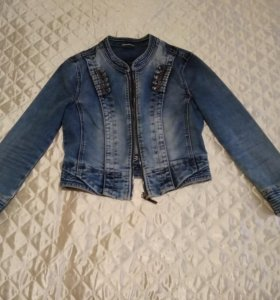Пиджак из денима