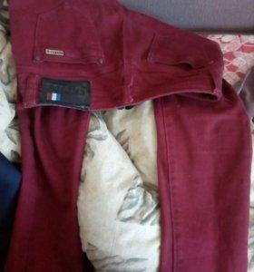 Красные женские джинсы низкой посадки