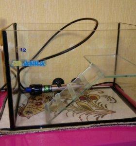 Аквариум, УФ-лампа для черепах, нагреватель