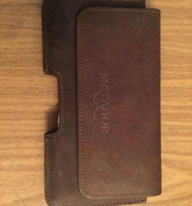 Чехол-кобура для телефона кожаный( новый )