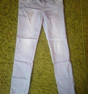 Серые джинсы на девочку 8-10 лет