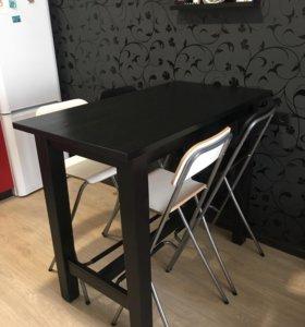 Барный стол IKEA + барные стулья