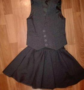 Школьная форма Костюм 3-ка OLMI + блузки