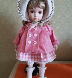 Новая  фарфоровая кукла коллекционная пуллип