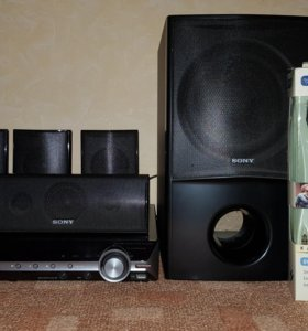 Домашний кинотеатр Sony + два микрофона караоке