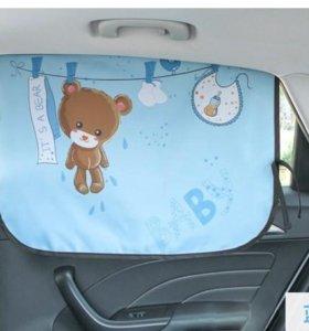 Шторка в авто детская
