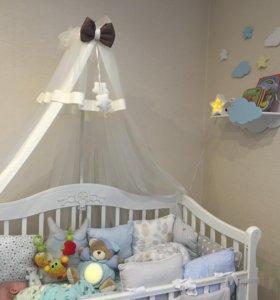 Продам шикарный балдахин для детской кроватки