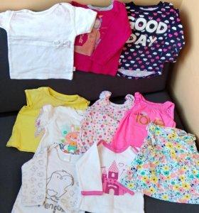 Вещи на девочку размер 68-74