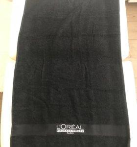 Полотенце чёрное новое 50*80