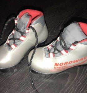 Ботинки для беговых лыж размер 27