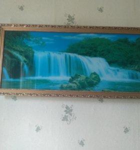 Ночник-картина водопад