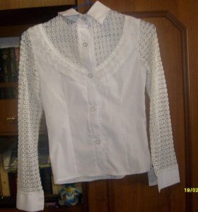 Рубашка белая школьная