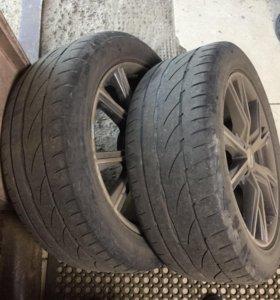 Диски R 18, с ризиной Bridgestone 235/50 2 шт