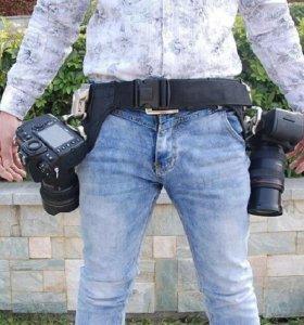 Пояс для двух фотокамер