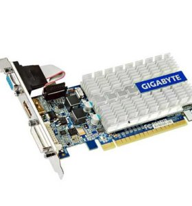 Видеокарта офисная gigabyte GeForce 210 1Gb