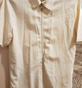 Рубашка с коротким рукавом на замочке 48-50р