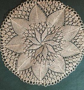 Вязаное изделие, ажурная салфетка