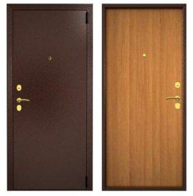 """Входная дверь """"Гардиан"""" - цвет: Венге/Светлый Орех"""