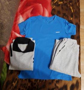 Спортивный костюм, футболка. Рост134см. Вещи пакет