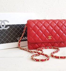 Сумка клатч Шанель Chanel красная