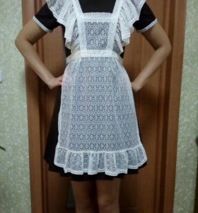Школьная форма, платье + фартук