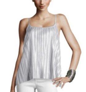 нарядная блузка металик-плиссе, марка HM