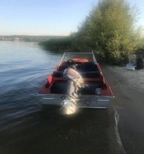 Лодка крым с мотором Yamaha 30
