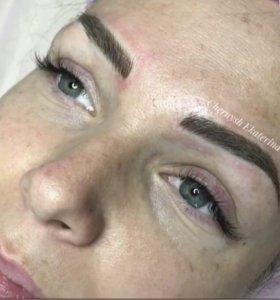 Микроблейдинг бровей,Перманентный макияж ( татуаж)