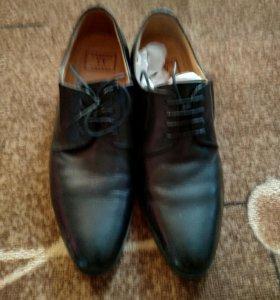 Мужские, кожанные туфли
