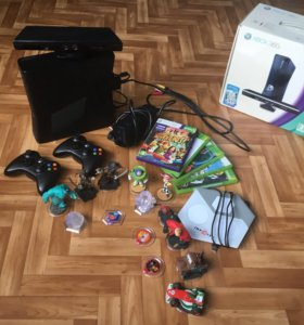 Xbox 360 Kinect + 5 игр