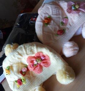 Детские шапочки до 6-7 мес