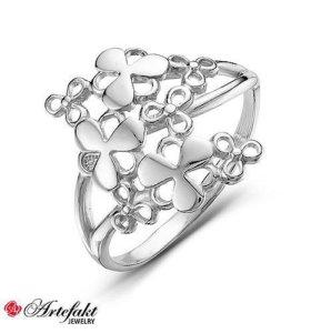 Кольцо серебро р-р 17