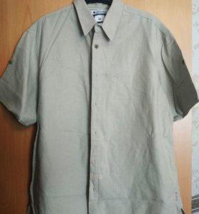 Рубашка 52-54р., 100% лён, новая