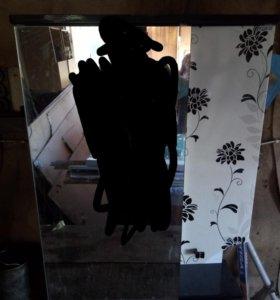 Раковина с тумбой + навесной шкафчик