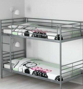 Двухъярусная кровать Икеа Свэрта