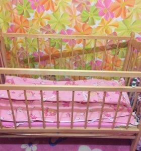 Детская кроватка. Состояние хорошее! Матрац