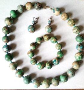 Зеленая бирюза комплект-подарок любимой свекрови!
