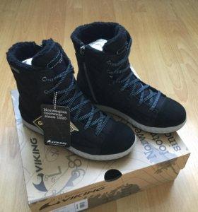 Новые зимние ботинки Viking р.34(22 см)