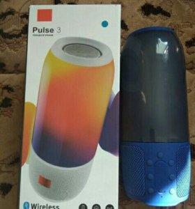 Яркая портативная Puls 3 bluetooth колонка