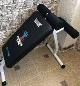 Тренажёр для пресса и спины fitness line