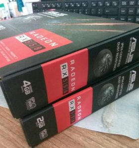 Видеокарты rx550 4gb и 2gb