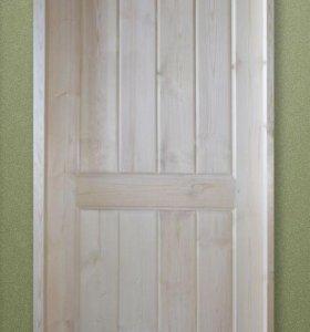 Двери деревянные филенчатые.