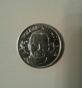 Памятные монеты. Футболист Галатасарая Турция