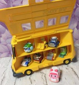 Robocar Poli-кейс для хранения машинок Скулби