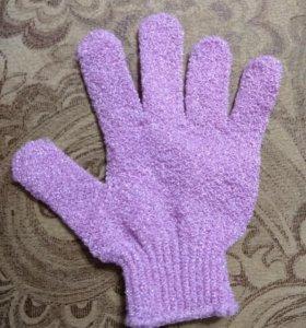 Мочалка в виле перчатки