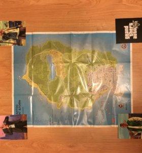 Карта лоссантоса+ карточки GTA5
