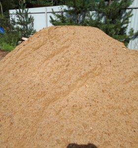 Песок строительный в мешках по 50кг.