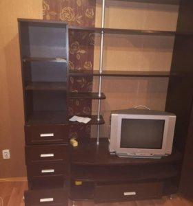 Угловой шкаф, тубма под телевизор